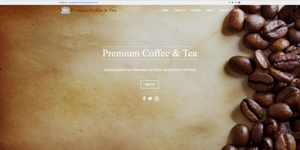 Premium Coffee & Tea